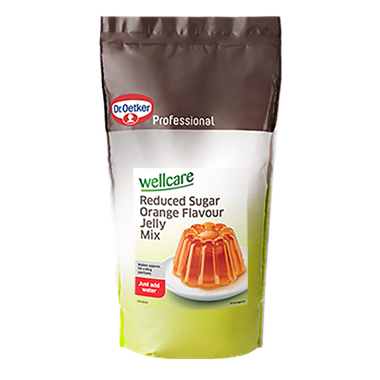 Wellcare Reduced Sugar Orange Flavour Jelly Mix