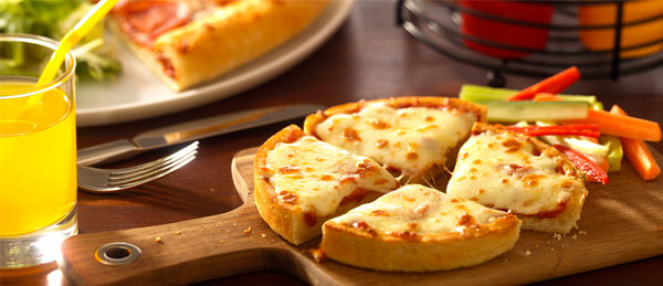 Deep dish cheese pizza