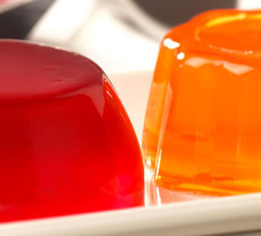 Red and orange jelly